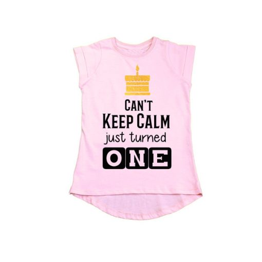 Can't Keep Calm just turned one girls pink tee