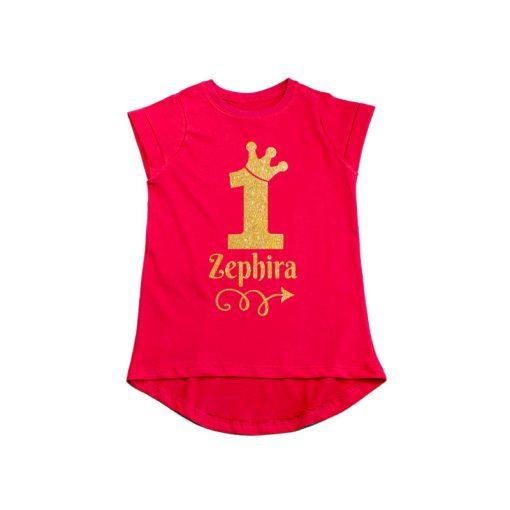 1st Birthday Princess Girls T-Shirt Red