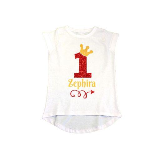 1st Birthday Princess Girls T-Shirt White