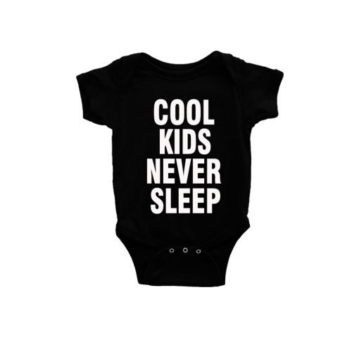 Cool kids never sleep Baby Romper Black