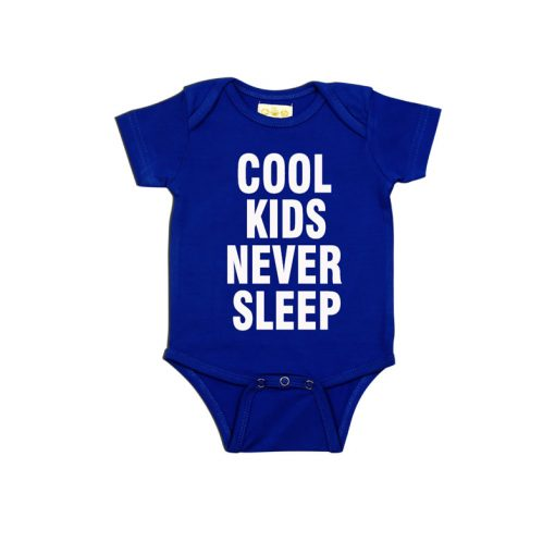 Cool kids never sleep Baby Romper Blue