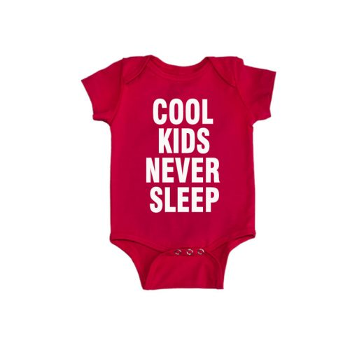 Cool kids never sleep Baby Romper Red