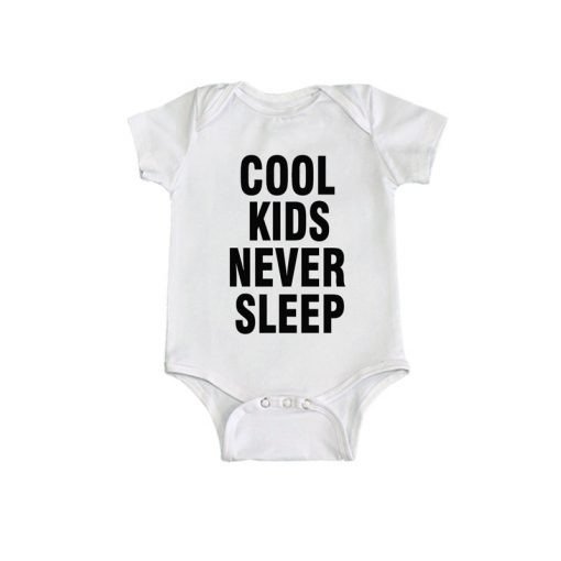 Cool kids never sleep Baby Romper White