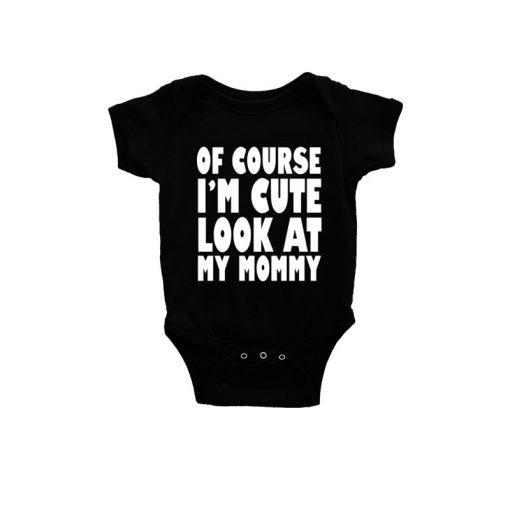 Cute Like Mom Baby Romper Black
