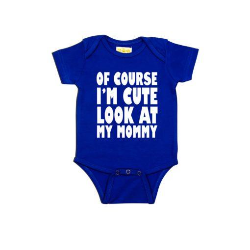 Cute Like Mom Baby Romper Blue