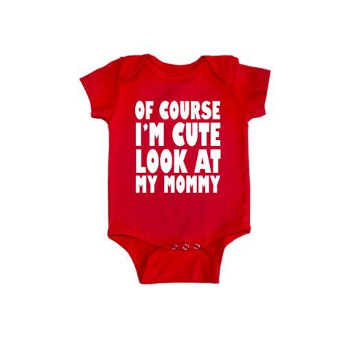 Cute Like Mom Baby Romper Red