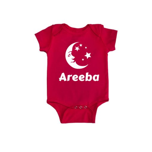 Eid Baby Name Baby Romper Red