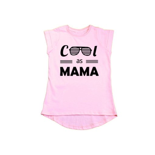 Cool as Mama Girls T-Shirt Pink