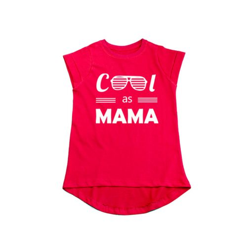 Cool as Mama Girls T-Shirt Red