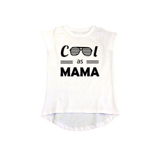 Cool as Mama Girls T-Shirt White
