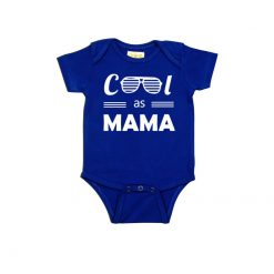 Cool as Mama Baby Romper Blue
