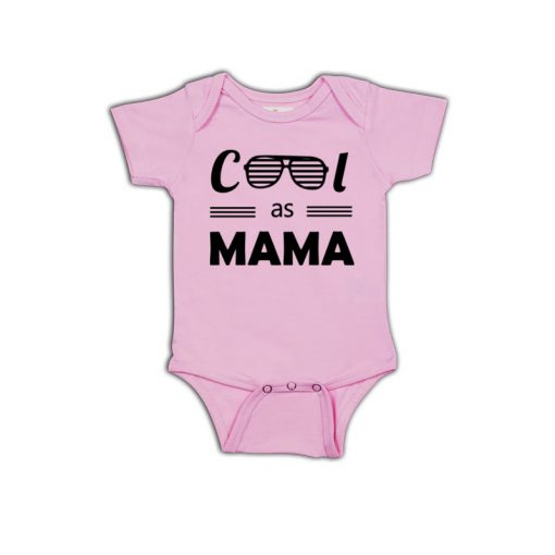 Cool as Mama Baby Romper Pink