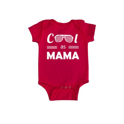 Cool as Mama Baby Romper Red
