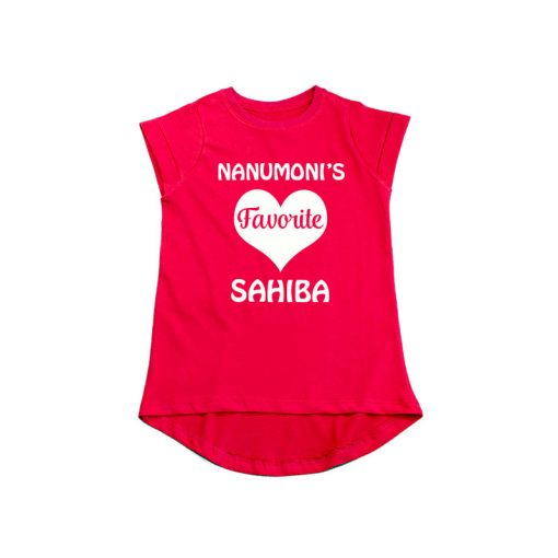 Nanu's Favorite Girls T-Shirt Red