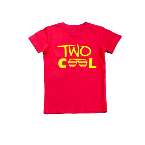 2nd Year Birthday Celebration T-Shirt Red