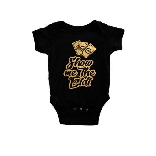 Show Me The Eidi Baby Romper Black