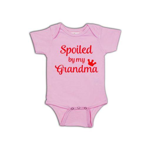 Spoiled By Grandma Baby Romper pink