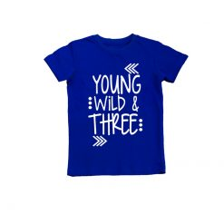 Young Wild & Three T-Shirt Blue