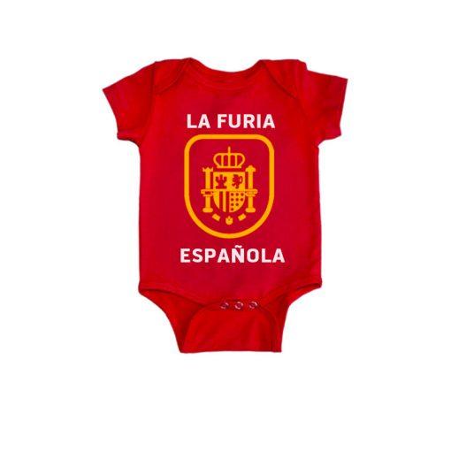 Spain Fan Baby Romper