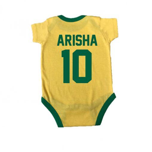 Brasil Fan Baby Romper