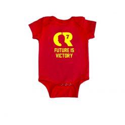 Portugal Fan Baby Romper Red