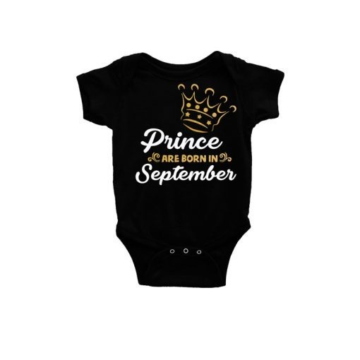 Prince are born in Baby Romper Black