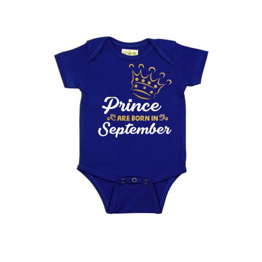 Prince are born in Baby Romper Blue