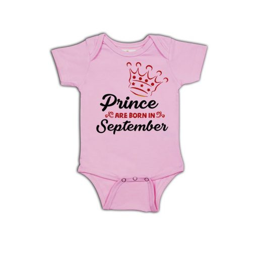Prince are born in Baby Romper Pink