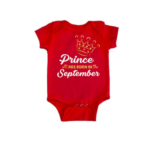 Prince are born in Baby Romper Red