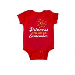 Princess are born in Baby Romper red