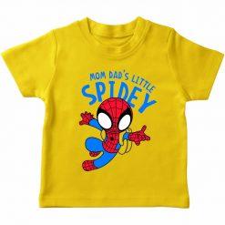 Mom dad little spidy t-shirt