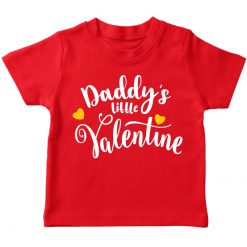 Daddy's little valentine red t-shirt for boy girl