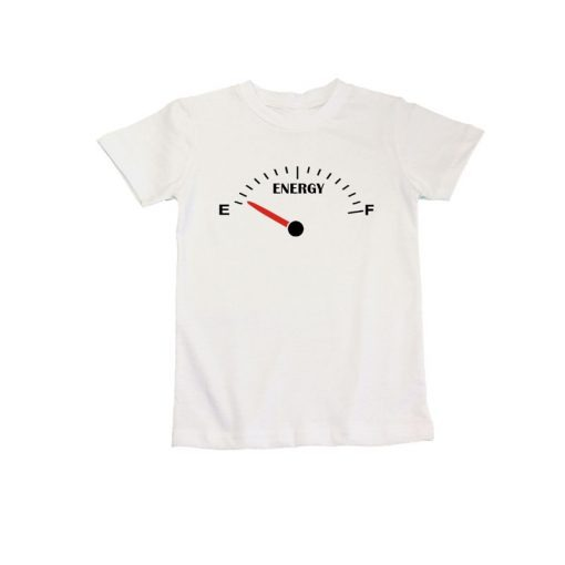 Family Matching white tshirt energy meter for mommy daddy
