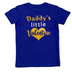daddys valentine blue tshirt unisex boys girls
