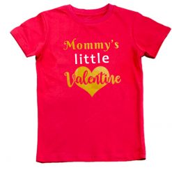 mommys little valentine red unisex tshirt boys girls