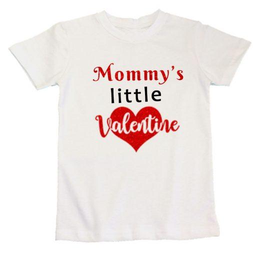 mommys little valentine white unisex tshirt boys girls