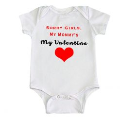 sorry girls baby romper white unisex boys girls