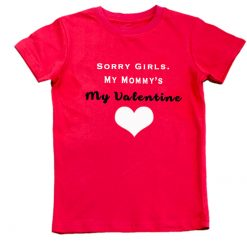 sorry girls tshirt red unisex boys girls
