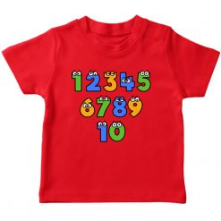 1 2 3 Number Red T-Shirt for Kids