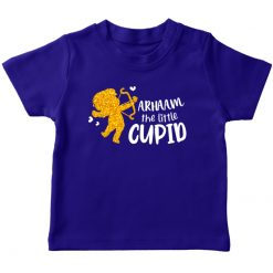 Little Cupid Valentines Day T-shirt Blue for Girls Boys