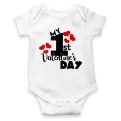 my first valentines day white romper