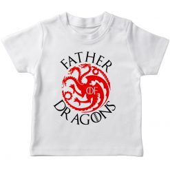 GOT Father Dragon White t-shirt