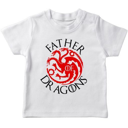 GOT Father Dragon White t-shirt