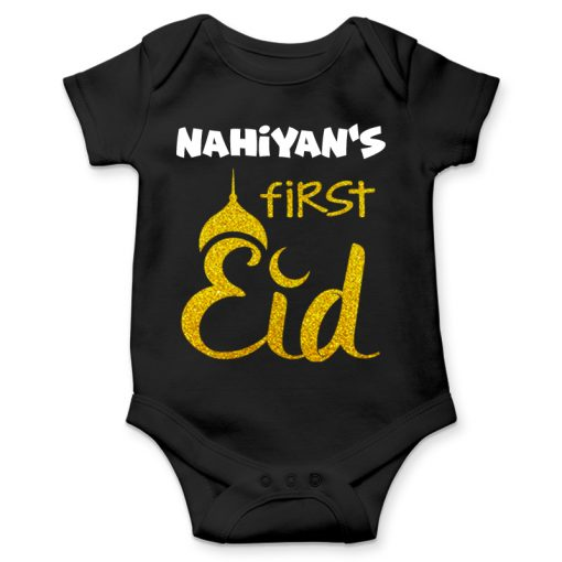 First eid celebration black romper