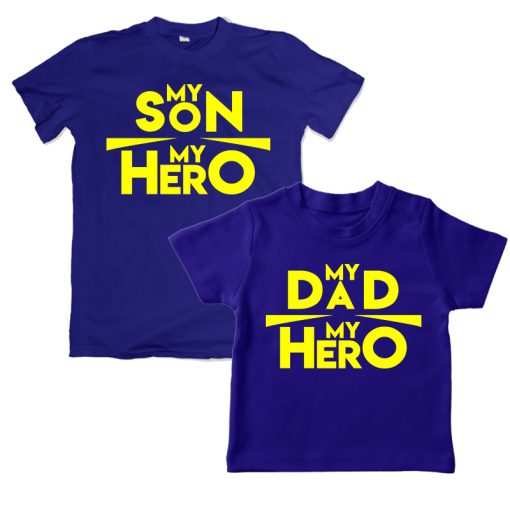My Son my Hero My Dad my Hero red t-shirt