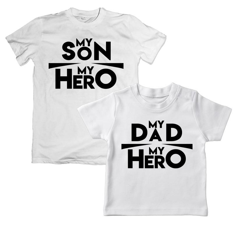 newest 7dfa4 55fb4 Father Son Hero unique Combo t-shirt for 2 person