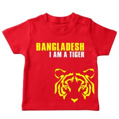 Bangladesh cricket I am a tiger red t-shirt