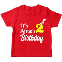 it's my birthday red t-shirt