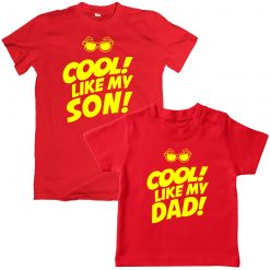 Father Son Cool unique Combo t-shirt Red