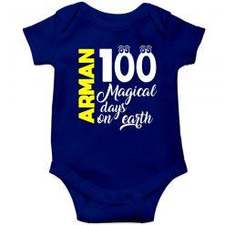 100-Days-Birthday-Customized-Name-Baby-Ropmper-Blue